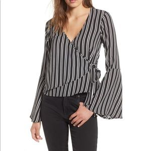 Bell Sleeve Wrap Top by CHLOE & KATIE